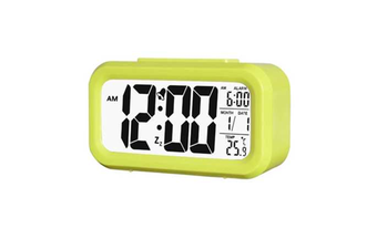 Temperature Alarm Clock Silence Electronic Clock Creative Digital Clock Green