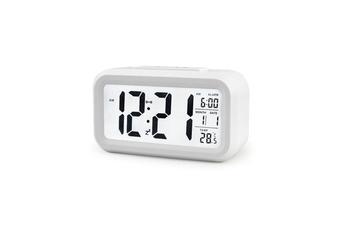 Temperature Alarm Clock Silence Electronic Clock Creative Digital Clock White