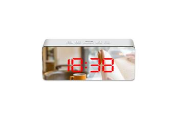 Mirror Alarm Clock Multifunctional Silent Led Digital Alarm Clock Red Rectangle