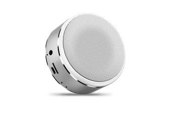 Mini Bluetooth Speaker Intelligent Portable Bass Cannon Wireless Speaker Silver