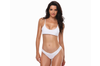 Women'S Sexy Solid-Color Bikini Split Low-Waist Classic Swimsuit - White White M