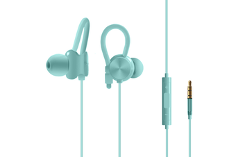 Stereo Input Earplug With Microphone Wire-Controlled Earphone Green
