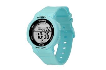 Electronic Watch Student Fashion Multifunctional Waterproof Watches Blue