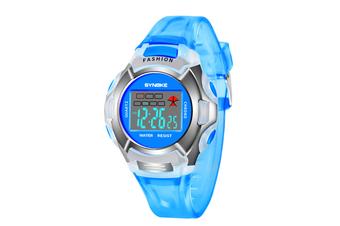 Children'S Watch Nightlight Waterproof Sports Electronic Watch Blue