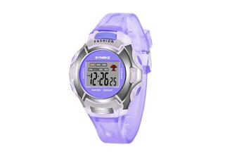 Children'S Watch Nightlight Waterproof Sports Electronic Watch Purple