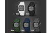 3D Stepping Electronic Watch Motion Time Recording Waterproof Watch Grey