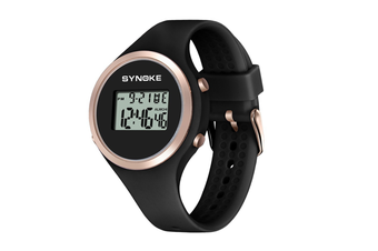 Children'S Electronic Watches Fashion Simple Silicone Watches Black