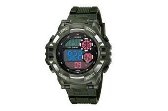 Men'S Watch Fashion Waterproof Multifunctional Student Electronic Watch Green