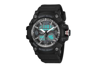 Sports Watch Multifunctional Men'S Waterproof Electronic Watches Black