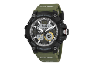 Sports Watch Multifunctional Men'S Waterproof Electronic Watches Green