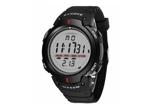 Electronic Watch Sports Waterproof Multifunctional Watch For Men Black