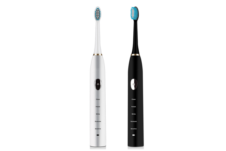 Maglev Induction Toothbrush Charging Five Grades Adult Sound Soft Hair Toothbrush - White White