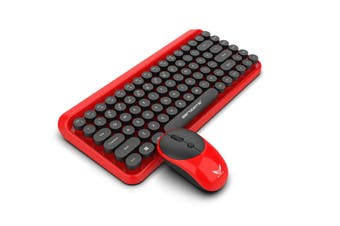 2.4G Wireless Keyboard And Mouse Set Retro Office Wireless Fashion Keyboard Mouse Black 950Mah