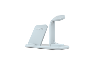 Separate Three-In-One Wireless Charger For Mobile Phone Headset Watch Bracket - White White