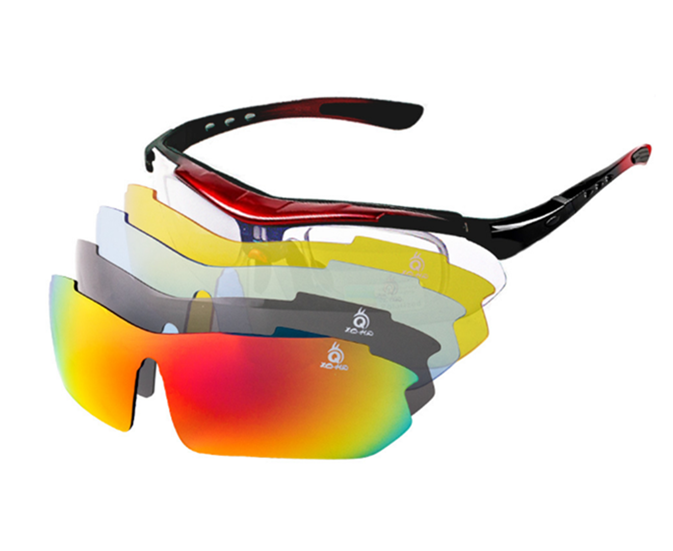 2-in-3 Basketball Glasses Optical Frame Detachable Legs /& Strap Sports Goggles Protective grey