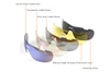 Outdoor Polarizing Glasses For Men And Women Sports Cycling Glasses 5-Piece Suit - 3 Red 5Pcs