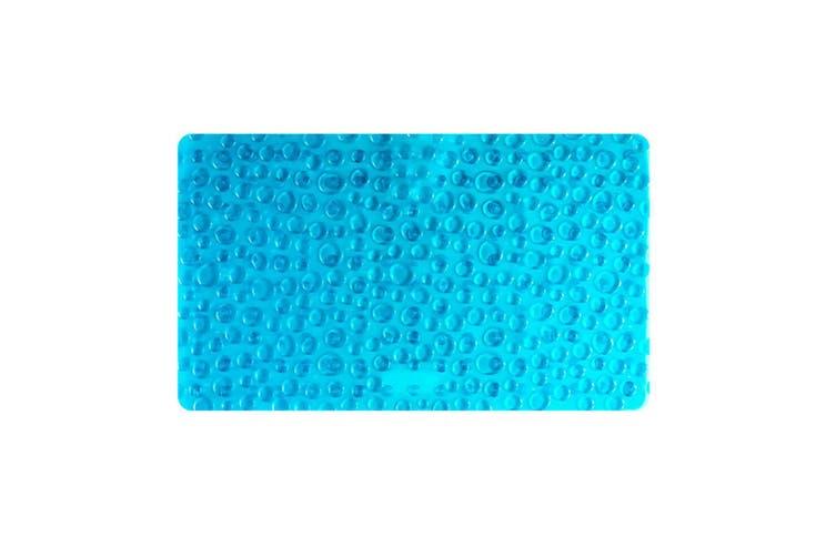 Pvc Bathroom Slip-Proof Pad Pebble Sucker Massage Footpad - Blue Blue 39*71Cm