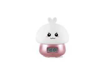 Night Lamp Alarm Clock Wake-Up Lamp Alarm Clock Tape Remote Control Clock - 1 Pink