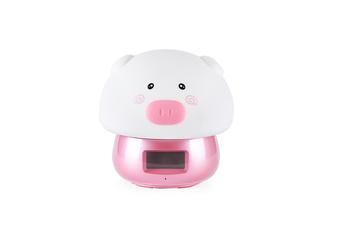 Night Lamp Alarm Clock Wake-Up Lamp Alarm Clock Tape Remote Control Clock - 2 Red