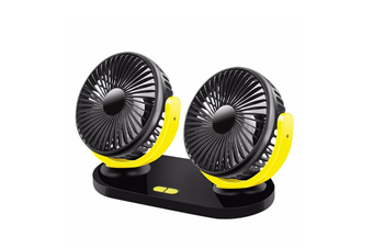 Vehicle Fan General Motors Small Electric Fan With Two Heads And Shaking Heads - Black Yellow Black
