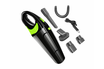Wireless Vehicle Vacuum Cleaner Usb Charged Handheld Vacuum Cleaner - Black Green Black