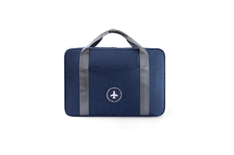 Travel Bag Thickening Portable Clothing Luggage Pull-Rod Bag - Navy Blue