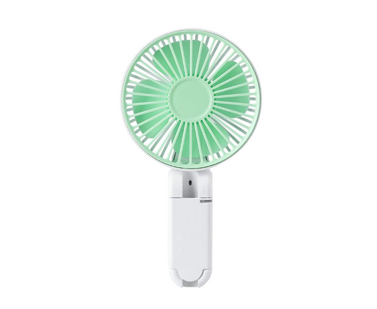 ZQ Portable USB Rechargeable Handheld Fan,Student Dormitory Office Desk Fan with Night Light,A