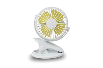 Usb Clip Mini Fan Portable Desktop Clip Fan - White White 130X115X170Mm