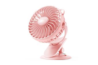 Clip Fan Usb Desktop Office Fan Mini Dormitory Fan - Pink Pink 18X11X19Cm