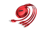 3 In 1 Multifunctional Data Line Applicable To Iphone Android Type-C - Red Red Iphone+Android+Type-C