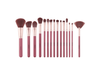 15Pcs Cosmetic Brush Sets Brush Complete Set Beginner Cosmetic Tools - Coffee Brown