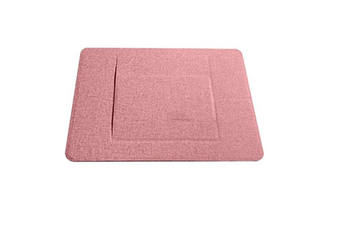 WJS Invisible Anti-Slide Ultra-Thin Adhesive PLaptop Stand Folding Adjustable Bracket Portable Tablet Holder-Pink