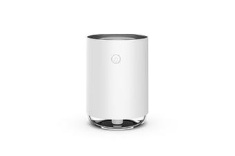 WJS USB Humidifier Home Bedroom Air Conditioning Room Mini Aerosol Dispenser Desktop Water Meter-White