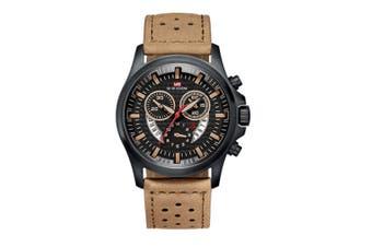 WJS Fashion Multi-function Sports Belt Watch Creative Calendar Waterproof Watch Quartz Watch Suitable for Men-2