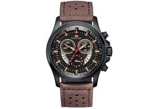 WJS Fashion Multi-function Sports Belt Watch Creative Calendar Waterproof Watch Quartz Watch Suitable for Men-3
