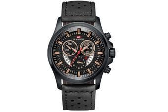 WJS Fashion Multi-function Sports Belt Watch Creative Calendar Waterproof Watch Quartz Watch Suitable for Men-4