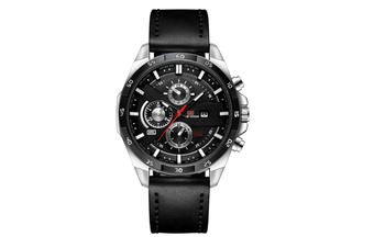 WJS Stylish Waterproof Outdoor Sports and Leisure Watch Belt Calendar Quartz Watch Suitable for Men-2