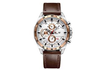 WJS Stylish Waterproof Outdoor Sports and Leisure Watch Belt Calendar Quartz Watch Suitable for Men-3