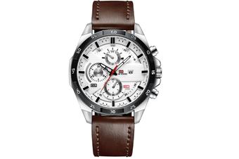 WJS Stylish Waterproof Outdoor Sports and Leisure Watch Belt Calendar Quartz Watch Suitable for Men-4