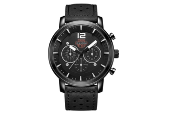 WJS Fashion Sports and Leisure Outdoor Watch Large Watch Breathable Strap Quartz Watch Suitable for Men-White