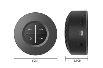 WJS Portable Wireless Bluetooth 4.1 Speaker Outdoor Mini Speaker Plug-in Touch Screen Subwoofer Small Sound Cannon-Black