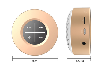 WJS Portable Wireless Bluetooth 4.1 Speaker Outdoor Mini Speaker Plug-in Touch Screen Subwoofer Small Sound Cannon-Gold