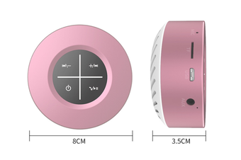 WJS Portable Wireless Bluetooth 4.1 Speaker Outdoor Mini Speaker Plug-in Touch Screen Subwoofer Small Sound Cannon-Pink