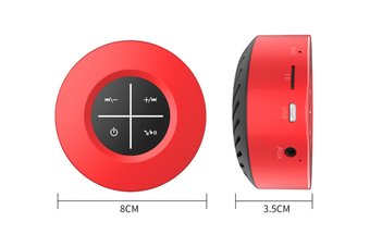 WJS Portable Wireless Bluetooth 4.1 Speaker Outdoor Mini Speaker Plug-in Touch Screen Subwoofer Small Sound Cannon-Red