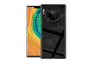 WJS Simple Mirror Anti-drop Hard Shell Glass Phone Case for Huawei Mate30 Pro-Huawei Mate30pro