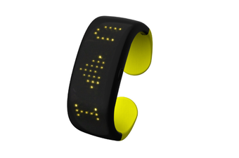 WJS Creative Button Control Dynamic Display LED Display Light Bracelet Suitable for Bar Party Birthday Atmosphere Night-Yellow