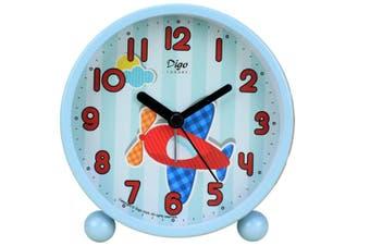 WJS 4 Inch Simple Bedroom Living Room Alarm Clock Cartoon Small Alarm Clock Electronic Desktop Clock