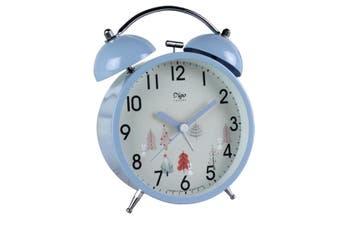 WJS 4 Inch Creative Alarm Clock Personality Bell Desktop Mute Clock Nordic Style Small Fresh Alarm Clock