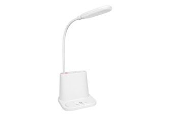 WJS Multifunctional Touch Desk Lamp Student Desktop Eye Protection Desk Lamp with Pen Holder Suitable for Office Bedroom-White