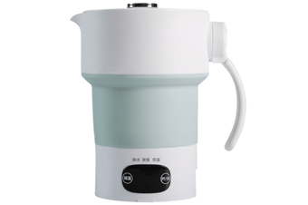 WJS Travel Portable Electric Kettle Foldable Kettle Constant Temperature Mini Insulation Pot Adjustable Temperature-Green